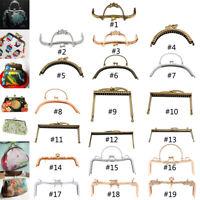 Kiss Clasp, Metal Purse Frame, Clutch Handle Bag Arch Lock DIY Craft for Handbag
