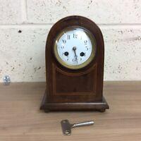 Elegant Edwardian Mahogany Jules Rolez Mantle Clock. Needs Pendulum