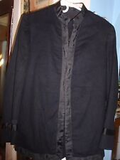 ANTIQUE M 1895 PATTERN UNDRESS BLOUSE /JACKET / TUNIC MILITARY BLACK  WOOL COAT