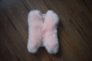 Babies Girls Kids Faux Fur Body Warmer Cute Gilet 12 to 36 Months Pink