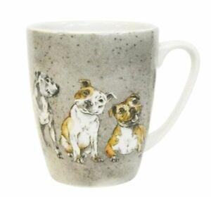 STAFFORDSHIRE BULL TERRIER Dogs MUG Staffie Fine China 400ml Churchill Oak Shape