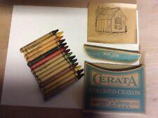 Crayola's Binney & Smith Cerata Crayons Nos manufactured 1913-1926