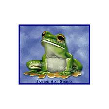 Green Tree Frog Small Animal Car Stickers Decal Boat Caravan Laptop - STL112B
