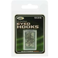 2 X Packets 40x NGT Tackle Grey Coarse Barbless Eyed Hooks Size 10 Carp