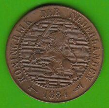 Niederlande 2 1/2 Cent 1884 knappes vz hübsch nswleipzig