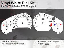 BMW 3 Series E36 Compact (1990 - 2000) - 240kmh / 7000rpm - Vinyl White Dial Kit