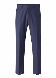 Mens Kennedy Suit Trouser Royal Blue W34 Regular CS079 HH 03