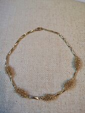 Vintage Gold Tone Chocker Necklace Unusual