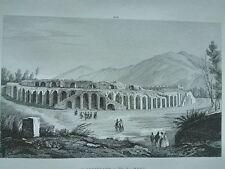 1845 Zuccagni-Orlandini, L'Anfiteatro di Pompei, Veduta