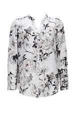 Wallis Petite Grey Floral Print Shirt UK Size 10 TD172 ii 03