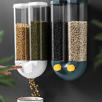 Cereal Dispenser Dry Food Storage Container Wall Mount Kitchen Tools 2 Color