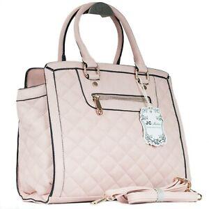 Luxus Trend Damen Henkel Tasche Handtasche mit Schulterriemen gesteppt