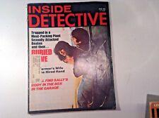 Vintage Inside Detective Magazine-Aug. 1975- Rape Victim-Slasher -Murder