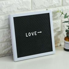 Letter Board Sign Home Office Decor White Frame with 147 Letters 10x10""
