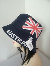 Australia Flag Bucket Hat Adult Australian Day Aussie Summer Sun Cap Brim