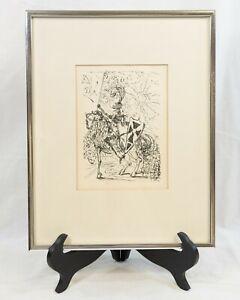 SALVADOR DALI Certified Original Etching Print EL CID Spanish Immortals (STR)