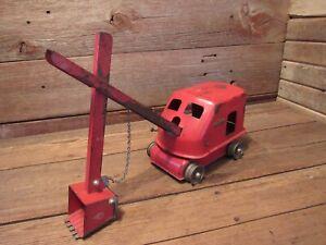 Vintage Tonka Toys 1953 Steam Shovel # 50  All Original Red - PARTS!