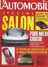 L'AUTOMOBILE MAGAZINE n°508 10/1988 Spécial SALON