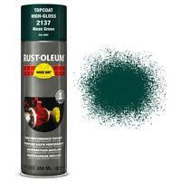 x2 Industrial Rust-Oleum Moss Green Aerosol Spray Paint Hard Hat 500ml RAL 6005