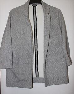 Topshop Grey Soft Smart Blazer Jacket Size 12