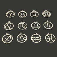 Smaller Size Quantity Options BFS1787 Pisces Zodiac Stainless Steel Charms