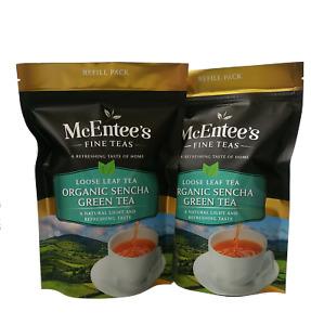 McEntee's ORGANIC SENCHA GREEN Tea – VALUE PACK 2 X 150g Bags - From Ireland