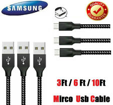 3/6/10Ft Micro USB 3.0 Fast Charger Data Sync Cable Braided Cord For Samsung