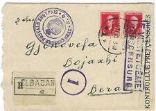 Albania Italian Occupation 1940 registered censored cover Elbasan to Berat