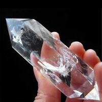 1PCS AAA NATURAL CLEAR QUARTZ CRYSTAL DT WAND POINT Healing