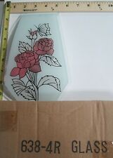 FREE US SHIP OK Touch Lamp Replacement Glass Panel Flower Rose Butterfly 638-4R