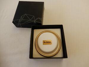 vintage 9ct solid gold golf bangle - stamped 375 - weighs 6.3gms