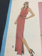 Simplicity Retro Disco Era Jiffy Dress Pattern # 9246 Ladies Size 12 From 1980