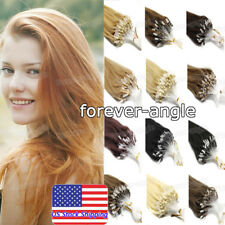 Micro Loop Ring Beads Link Tip Indian Remy Human Hair Extensions16/22inch 0.5g/s