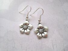 *Cute Flower* Tibetan Silver Earrings Sp Gift Bag Silver Plated Simple Xmas Gift