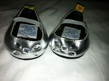 Build a Bear Sliver Flats with Clear Stones