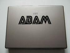 1 x Personalised Name Sticker for Laptops Vinyl Decal Sega Font kids childs