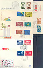 NETHERLANDS LOT OF SEVEN DIFFERENT EUROPA FIRST DAY COVERS AS SHOWN