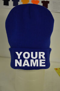 Customised Personalised Name Beanie Lots Of Colours - Cotton Custom Hat Gift