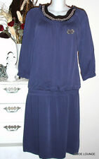 ♥ ESPRIT ♥ Kleid dress Dr Viscose TW Gr 38 M L marine  blau blue Tunika