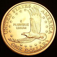 2002 D Sacagawea Dollar ~ With Eagle in Flight Reverse ~ BU from U.S. Mint Roll