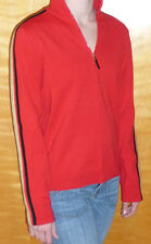 Ralph Lauren Active Holiday Sweater Womens Half Zip Cotton Pullover Red L $90