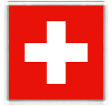 SWITZERLAND FLAG FRIDGE MAGNET SOUVENIR IMAN NEVERA