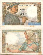 France 10 Francs P#99e (13.01.1944) Banque de France VF