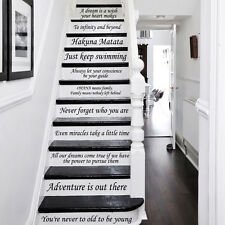 Stair Decals Disney Quotes Stairway 13 Steps Vinyl Stickers Family Decor ZX233