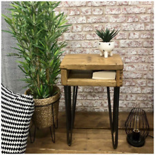 Bedside Table - Side Table - Hairpin Legs - Industrial Furniture - Scaffold