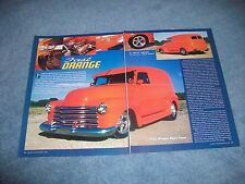 "1948 Chevy Panel Delivery Truck Mild Custom Article ""Fast Orange"""