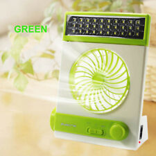RECHARGEABLE EMERGENCY POWERED SOLAR FAN LED LIGHT& AC INTERNAL BATTERY CHARGERS