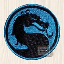 Mortal Kombat Teal Logo Embroidered Patch Sub-zero Scorpion Raiden Liu Kang 9 PS