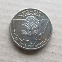 AUSTRALIAN  2001 CENTENARY OF FEDERATION...NSW..*** 20 CENT COIN  UNC ***