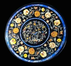 21 Inches Marble Coffee Table Top Pietra Dura Art Sofa Table for Hallway Decor